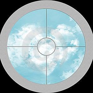 View Through The Optics On Sky Stock Photo - Image: 14805850