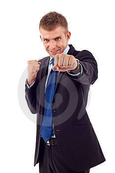 Man In A Combat Stance Royalty Free Stock Images - Image: 14809009