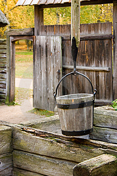 Fragment Of An Old Village Royalty Free Stock Images - Image: 14809879