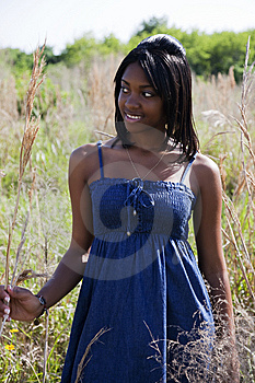 African American Teen In Nature Stock Photo - Image: 14810590