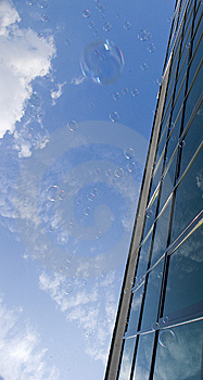 Bubbles Against Window Stock Photo - Image: 14811330
