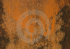 Orange Painted Grunge Wall Stock Photos - Image: 14811493