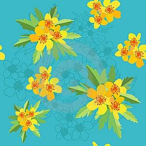 Ranunculus Acris Seamless Royalty Free Stock Image - Image: 14812536
