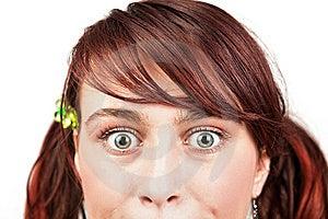惊奇眼睛青少年的妇女年轻人 库存图片 - 图片: 14813734