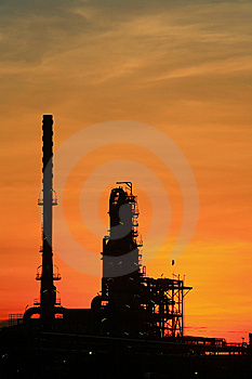 Oil Refinery At Twilight Thailand Stock Photography - Image: 14813832