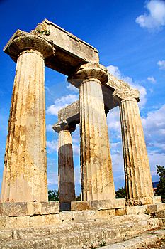 Apollon Temple In Corinth Stock Images - Image: 14814194