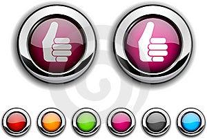 Good Button. Royalty Free Stock Photo - Image: 14815845