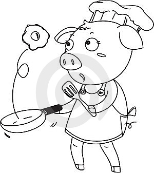 A Pig As A Chef Royalty Free Stock Photos - Image: 14832418