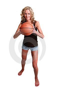 Female Basketball Player Isolated On White Royalty Free Stock Image - Image: 14833286