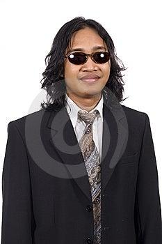 Long Hair Man Wearing Suit Stock Image - Image: 14833511