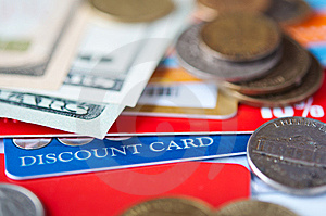 Plastic Cards And  Money Stock Images - Image: 14833854