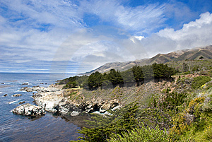 Mountain Landscape In California's Big Sur Royalty Free Stock Photo - Image: 14834015