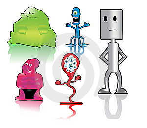 Funny Monsters Royalty Free Stock Image - Image: 14834626