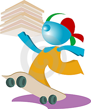 Blueman PIZZA DELIVERY ISSOLATED Royalty Free Stock Photography - Image: 14837117