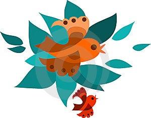 Orange And Red Fling Birds Royalty Free Stock Photos - Image: 14837948