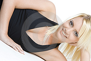 Lying Woman Stock Photo - Image: 14839610