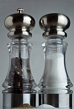 Towering Salt And Pepper Shakers Royalty Free Stock Photos - Image: 14839698