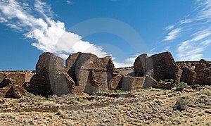 Kin Bineola Ruins, Chaco Canyon Royalty Free Stock Photography - Image: 14840587