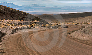 Curve In The Desert Royalty Free Stock Image - Image: 14840686
