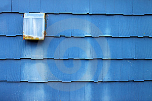 Dusty Blue Wooden Shingles Royalty Free Stock Images - Image: 14841379