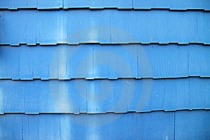 Dusty Blue Wooden Shingles Stock Images - Image: 14841394