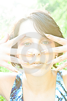 Woman In Golden Light Royalty Free Stock Images - Image: 14841899
