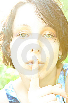 Woman Asking For Silence Stock Photos - Image: 14841913