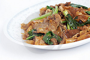 Fried Noodle With Pork Stock Image - Image: 14846901