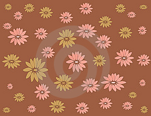 Rose And Brown Flower On Brown Background Stock Photo - Image: 14847430