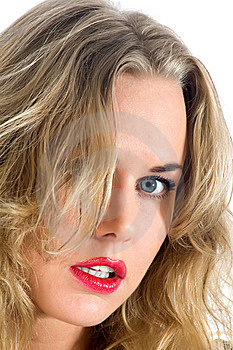 Portrait Of The Blonde With Blue Eye Royalty Free Stock Photo - Image: 14848995