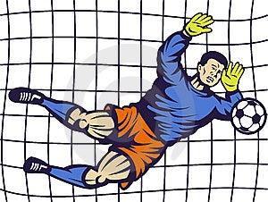 Soccer Football Goalie Keeper Goal Stock Photo - Image: 14849500