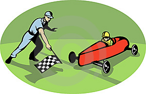 Soap Box Derby Racing Race Flag Royalty Free Stock Photography - Image: 14849537