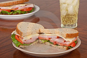 Ham And Cheese Sandwich Stock Image - Image: 14850811