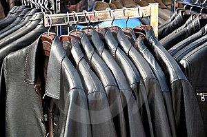 Jackets On Hangers Royalty Free Stock Photos - Image: 14853438