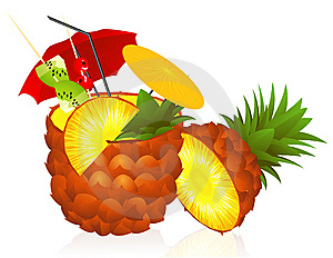 Pineapple Cocktail Stock Image - Image: 14854171
