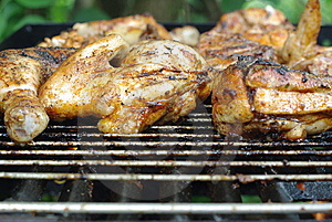 Chicken On Grill Royalty Free Stock Photography - Image: 14854387