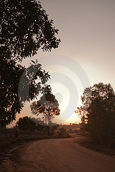 Dirt Road To Unseen Scenery Of Thailand Stock Photo - Image: 14855100