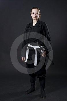 Female Samurai Holding Katana Stock Image - Image: 14856181
