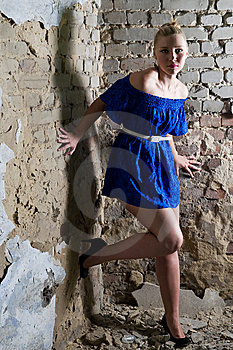 Beautiful Young Woman Posing In The Ruins Stock Photo - Image: 14861410