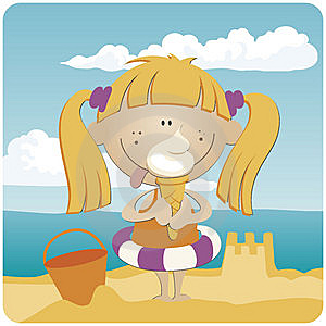 Ice Cream At The Beach Royalty Free Stock Photos - Image: 14863378