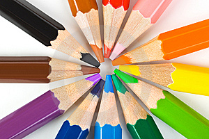 Multicolored Pencils Stock Images - Image: 14864194