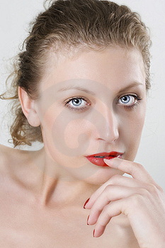 Photo Of A Sexy Woman With Red Lips Stock Photos - Image: 14866563