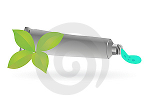 Teeth Cream Tube Mint Taste Royalty Free Stock Photo - Image: 14866925