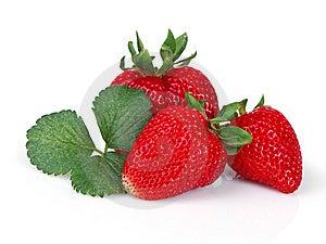 Strawberry Trio Stock Photo - Image: 14867870