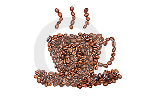 Cup Of Coffee Beans Royalty Free Stock Image - Image: 14870166