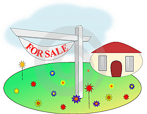 House Realty For Sale Sign Illustration Royalty Free Stock Photography - Image: 14871487