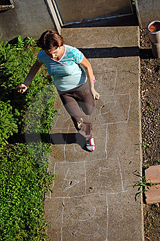 Playing Hopscotch Stock Images - Image: 14871594