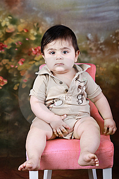 Baby On A Chair Royalty Free Stock Photography - Image: 14871737