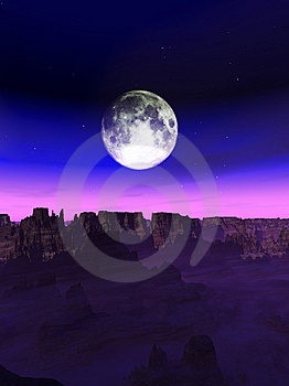 Alien World Landscape Stock Images - Image: 14872304