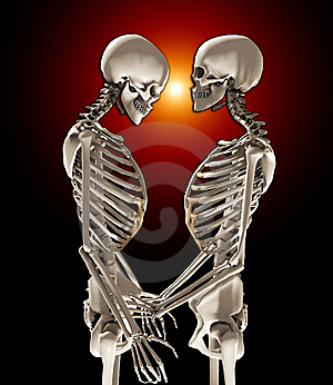 Skeletons In Love Stock Image - Image: 14872381